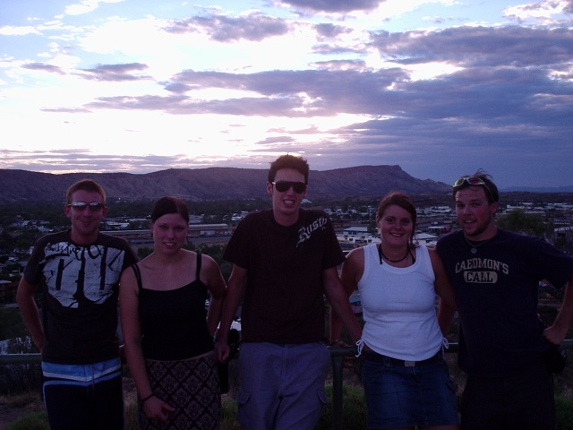 Ireland, Germany, Ireland, Katrin (Germany) and Jeff, Anzac Hill, Alice Springs