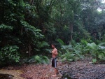 Matt in the jungle, Cape Tribulation