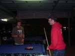 Mike challenges Jeff to a game of pool, Rainbow Beach