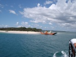 First sight of Fraser Island