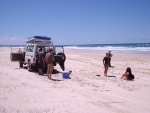 Lunch on the beach, Fraser Island