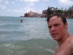 Jeff in the waves, Balding Bay, Magnetic Island