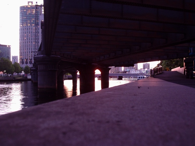 Under a bridge, Yarra River, Melbourne