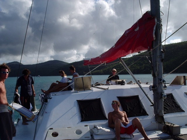 Sailing on the Tongarra, Whitsunday Islands