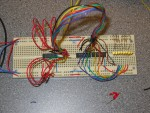 The initial test circuit of MUXes and LEDs
