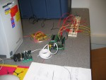 Test circuit of MUXes and LEDs connected to Microcontroller's digital I/O