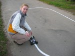 Jenny Allan with Path Seeker at the outdoor test course