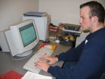 Jeff programming the PID controller and test program in Interactive C
